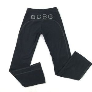 BCBGMaxazria Sweatpants Black Pull On Stretch